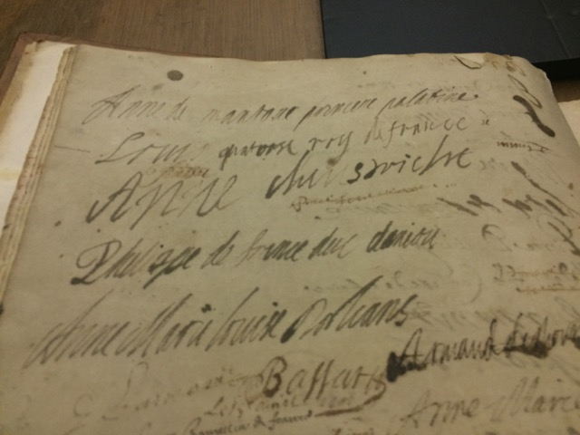 Louis XIV's signature when he was but 20 years old