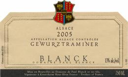 Blanck Gewurz label