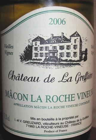 Greffiere Macon La Roche Vineuse 2006