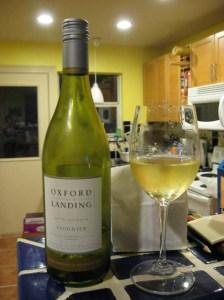 Oxford Landing Viognier 2006: pretty yellow
