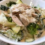 Low Carb, light, and healthy cauliflower Alfredo sauce is creamy, cheesy, and everything homemade Alfredo sauce should be (minus the guilt)! Chicken and broccoli are added for a complete and nutritious easy dinner.