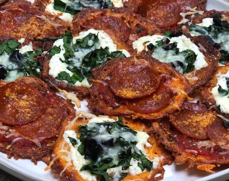Easy Keto Pizza Snack Chips