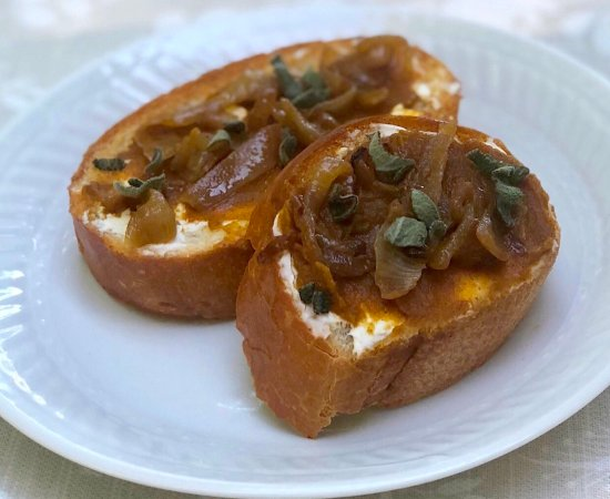 Savory Pumpkin Butter Crostini Appetizers