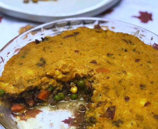 Autumn Shepherd's Pie with Pumpkin Mashed Potatoes