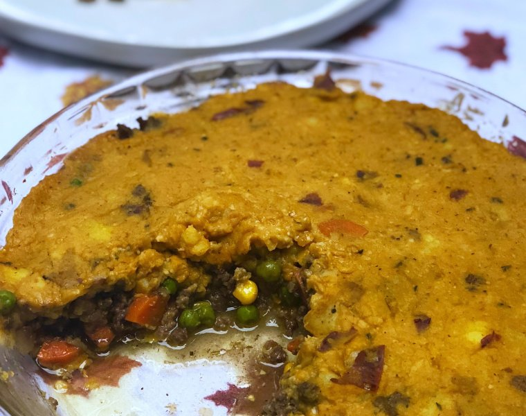 Autumn Shepherd's Pie with Pumpkin Mashed Potatoes