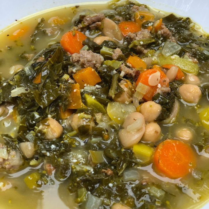 Italian White bean Vegetable Soup with Sausage