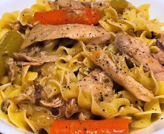 Homemade Stove Top Chicken and Noodles