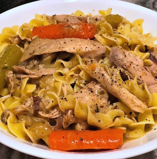easy homemade stove top chicken and noodles