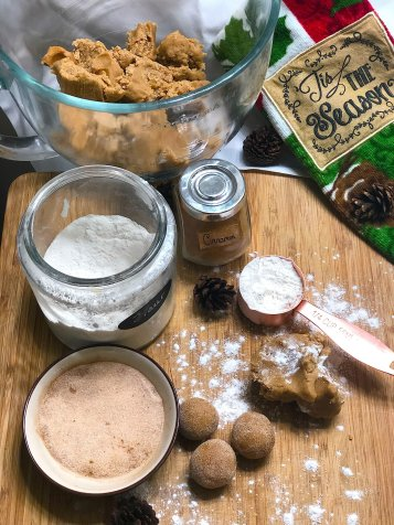 chai spice brown butter snickerdoodle cookies
