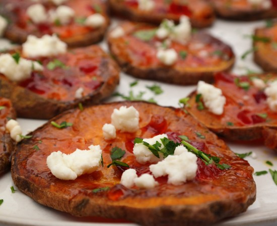 Sweet Potato & Goat Cheese Appetizer Bites