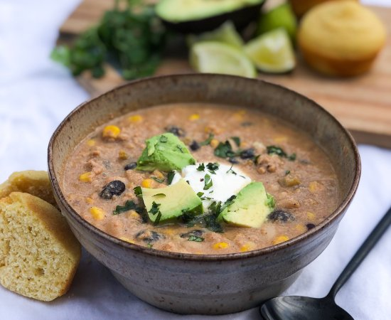Easy Crockpot White Chicken Chili with Corn and Beans