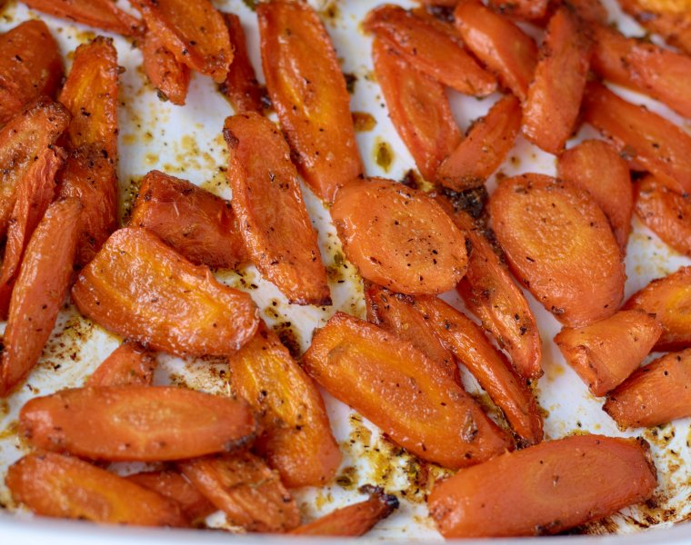 Lemon Maple & Ginger Roasted Carrots