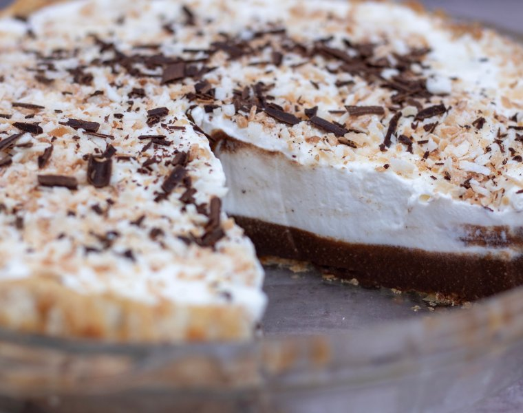 Homemade Chocolate Coconut Cream Pie