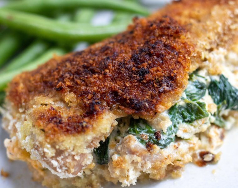 Stuffed Pork Chops with Spinach & Cheese