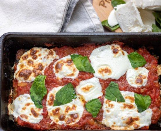 Italian Spinach & Mozzarella Stuffed Meatloaf