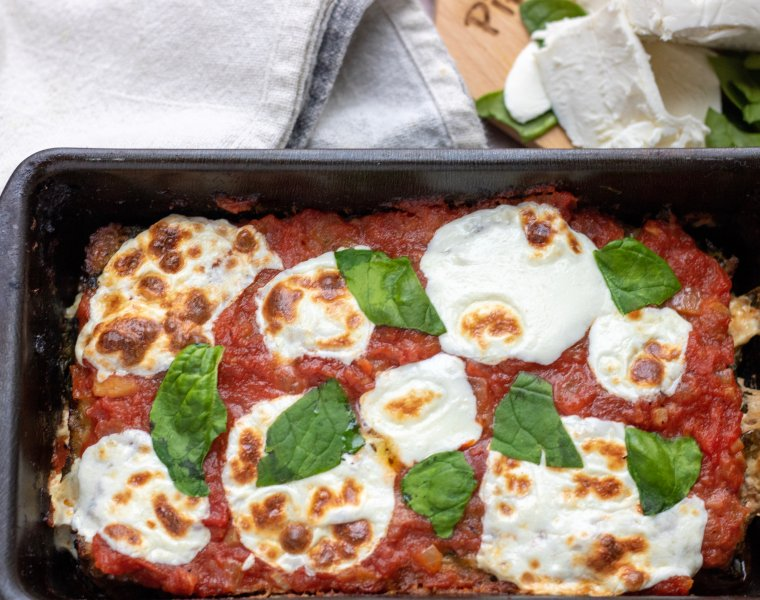 Italian Spinach & Mozzarella Stuffed Meatloaf