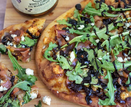 Naan Flatbread Pizza with Prosciutto & Fig Jam