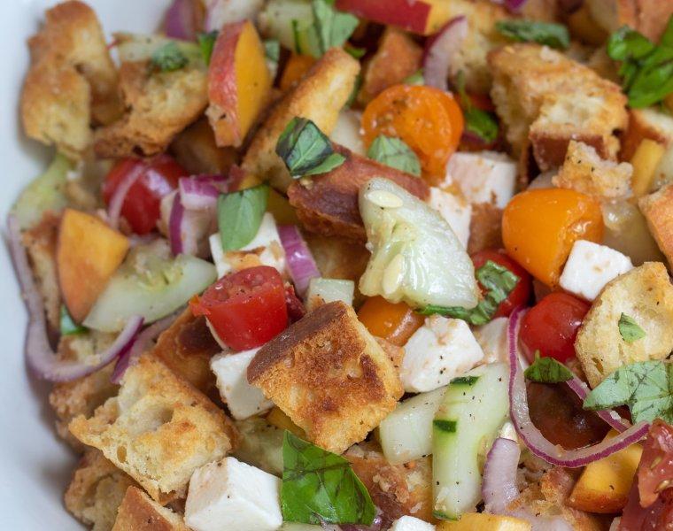 Summer Panzanella Salad (Tuscan bread salad)