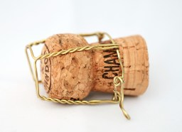 champagne cork and wire cage