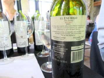El Enemigo, Malbec 2011, Mendoza, Argentina, Wine Casual