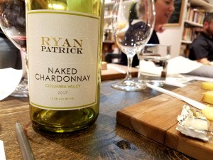 A 2017 unoaked chardonnay by Ryan Patrick produced in Columbia Valley, Washington.