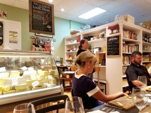 Laura Downey leads cheese tasting at Fairfield Cheese