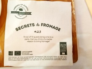 Secrets de Fromage #23: 9 out of 10 guests bring wine to a party. Can you think of a better reason to bring fromage?