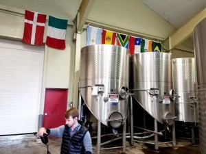 Flags from countries where Maryhill Winery interns have come from.