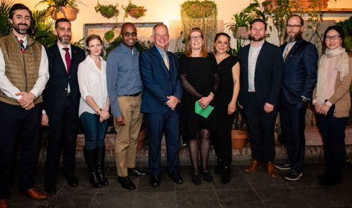 The International Wine Center (IWC) in New York announces 23rd graduating class of DipWSET diploma holders. Ian Harris, WSET Chief Executive, and Mary Ewing-Mulligan MW, President of IWC, recognize DipWSET graduates including Reggie Solomon.