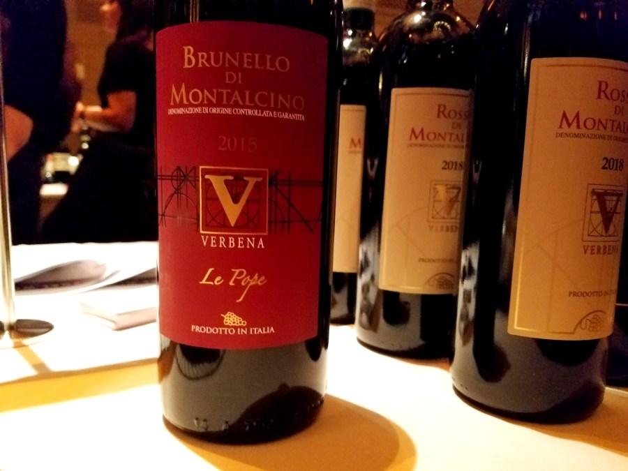 Verbena Le Pope Brunello di Montalcino 2015, Benvenuto Brunello 2020 New York City, Wine Casual