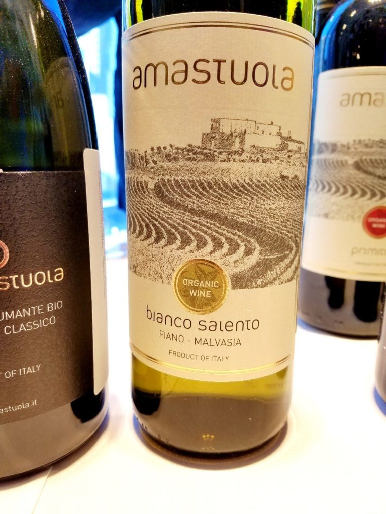 Amastuola Bianco Salento 2018 Fiano Malvasia Italy, Slow Wine New York Winetasting, Wine Casual