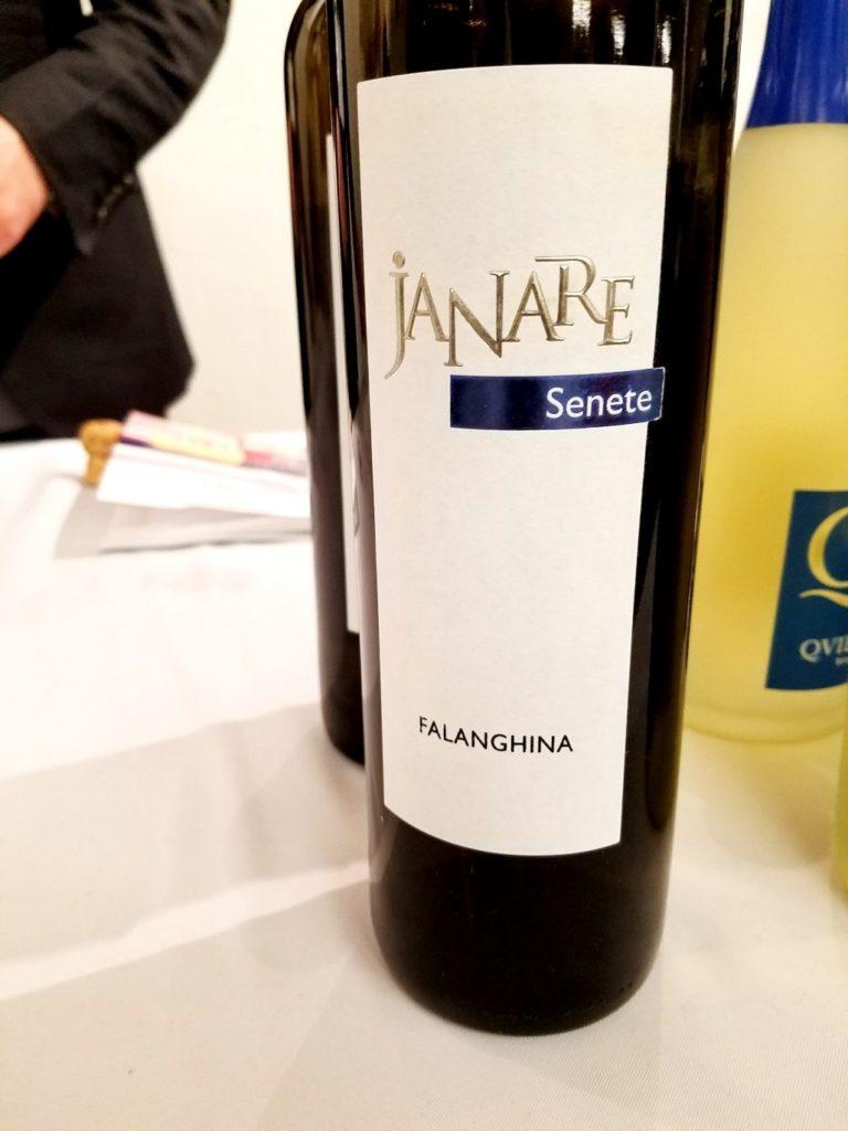 Janere Senete Falanghina 2018, Gambero Rosso New York Winetasting, Wine Casual