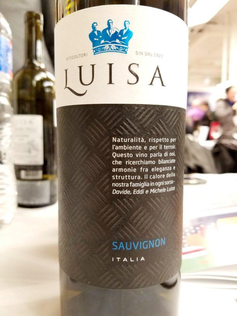 Tenuta Luisa Friuli Isonzo Sauvignon 2018, Gambero Rosso New York Winetasting, Wine Casual