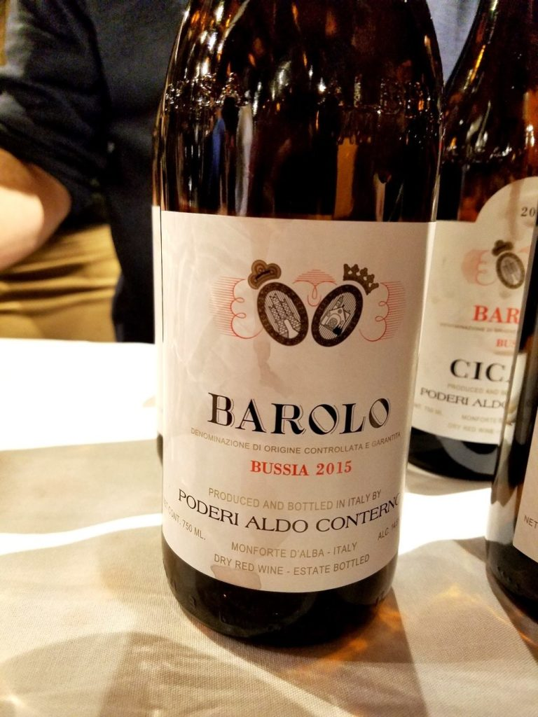Poderi Aldo Conterno Bussia Barolo 2015, James Suckling Great Wines of Italy New York 2020, Wine Casual