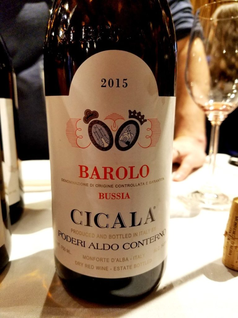 Poderi Aldo Conterno Cicala Bussia Barolo 2015, James Suckling Great Wines of Italy New York 2020, Wine Casual