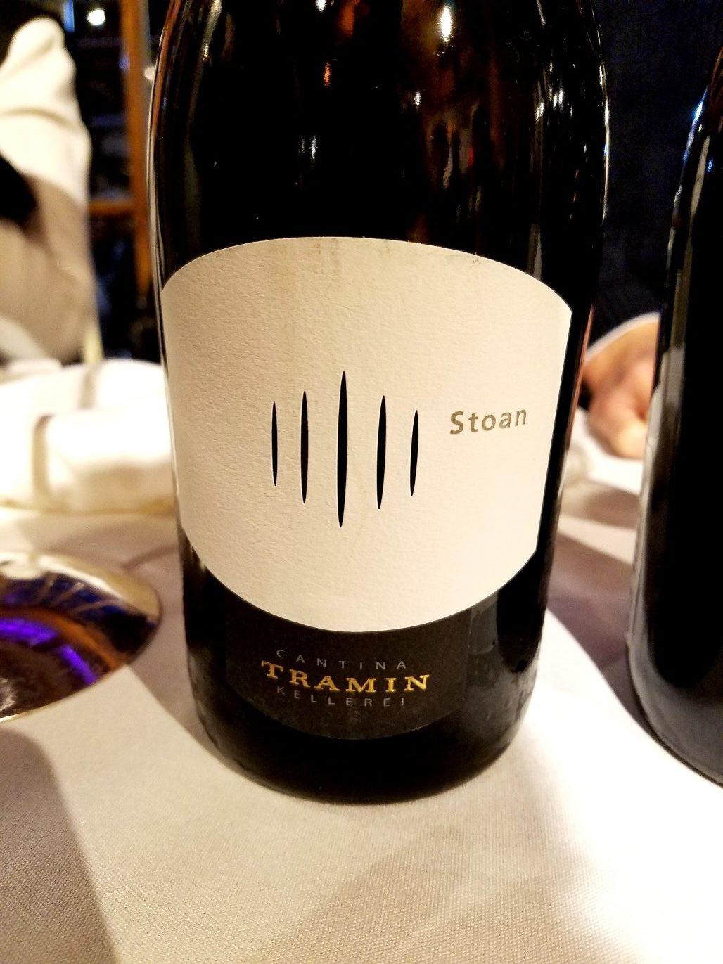 Cantina Tramin Kellerei Stoan 2017, James Suckling Great Wines of Italy New York 2020, Wine Casual
