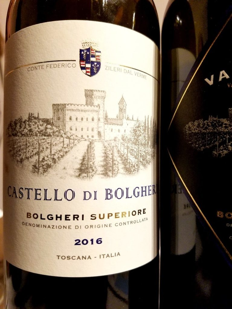 Castello di Bolgheri Bolgheri Superiore 2016, James Suckling Great Wines of Italy New York 2020, Wine Casual