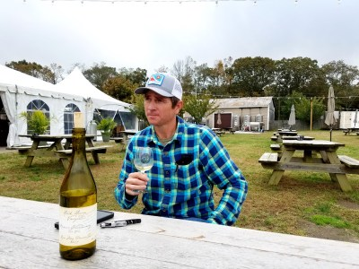 Hawk Haven Vineyard's, 44-year old owner and winemaker, Todd Wuerker, rocks a skakeboarder hat and 90s -grunge flannel while describing his wines.  Wine Casual