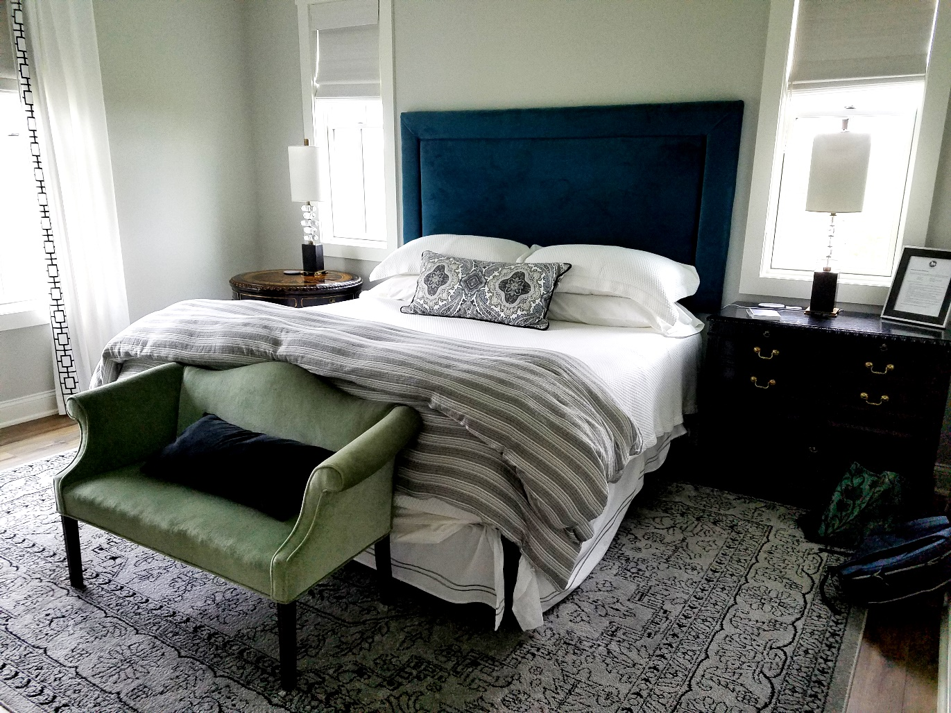 White Horse Winery Farmhouse Bedroom, The Solera Room. Wine Casual