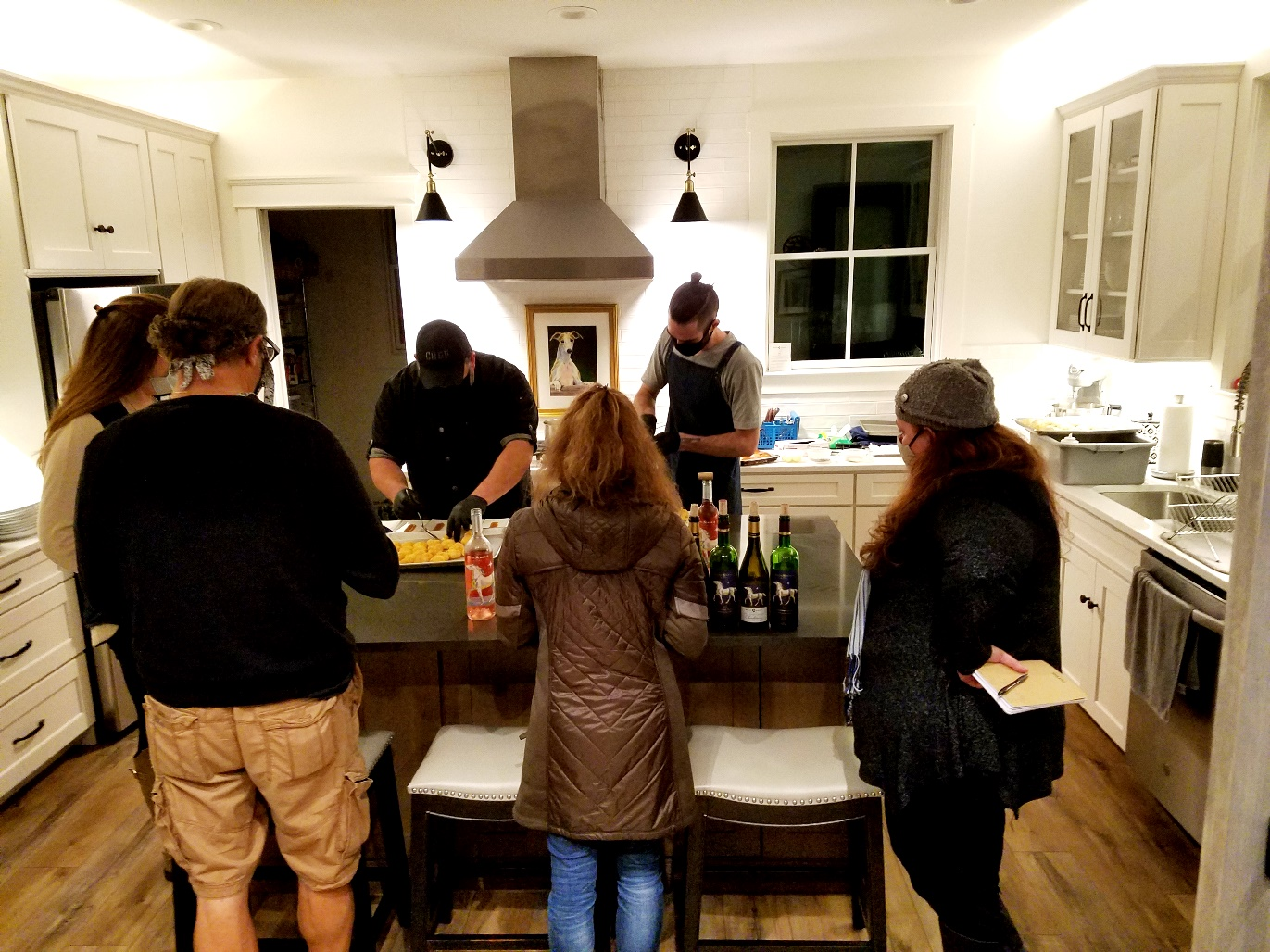 Chef David Murray of Denim BYOB prepares a porchside dinner at the White Horse Winery Farmhouse. Wine Casual