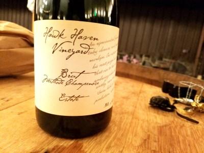 Hawk Haven Vineyard's Estate 2017 Estate Brut is a top New Jersey sparkling wine.  Wine Casual