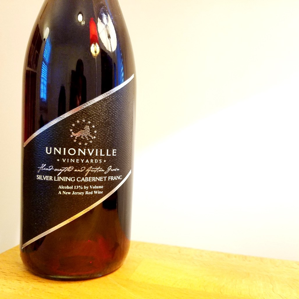 Unionville Vineyards, Silver Lining Cabernet Franc 2019, New Jersey. Wine Casual