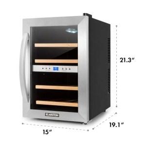 KLARSTEIN Reserva 12 Duo Dual Zone Wine Cooler dims