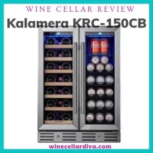 Kalamera KRC-150CB Mixed Beverage Dual Zone Wine Cooler
