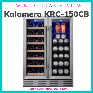 Kalamera KRC-150CB Mixed Beverage Dual Zone Wine Cooler