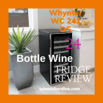 Whynter WC-241DS 24 Bottle Dual Zone Thermoelectric Wine Cooler, An Art Piece That Works As Beautiful As It Looks