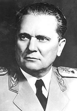 Marshal Josip Broz Tito, President of Yugoslavia between 1953-1980.