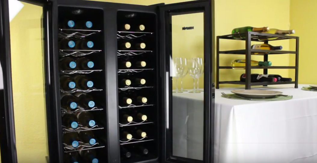newair aw321ed 32 bottle dual zone wine cooler
