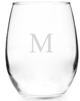 monogrammed acrylic stemless wine glass - Plastic Stemless Wine Glasses