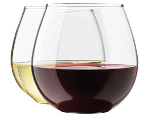 Royal Stemless Wine Glass Set